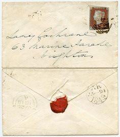 GB 1849 ENVELOPE to LADY COCHRANE in BRIGHTON...PENNY RED + SEAL    eBay