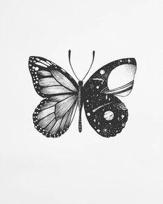ne petite idée de tatouage qu'es ce que vous en pensez ?  Bonne journée  #papillons #papillon #butterflydrawing #butterflytattoo #espace