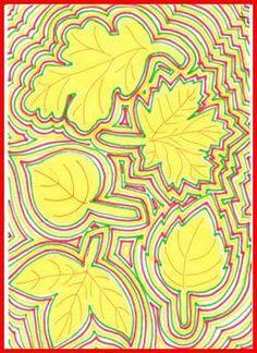 Obrysy podzimních listů – DIY World Fall Art Projects, Art Therapy Projects, School Art Projects, Fall Arts And Crafts, Autumn Crafts, Autumn Art, Art Drawings For Kids, Art For Kids, 3rd Grade Art