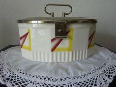 Keksdose / Gebäckdose Art Deco mit Schanierdeckel Spritzdekor | eBay
