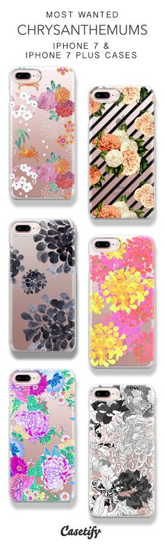 15 Most Wanted Chrysanthemums Protective iPhone 7 Cases and iPhone 7 Plus Cases. More Floral iPhone case here > https://www.casetify.com/collections/top_100_designs#/?vc=UcbN9pW6m2