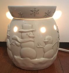 Scentsy Full Size Warmer Holiday Collection Snow Day Snowmen Snowman   eBay
