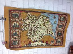 #Vintage 1970's yorkshire map #travel towel tea towel dish cloth #material,  View more on the LINK: http://www.zeppy.io/product/gb/2/172497795458/