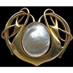ARCHIBALD KNOX Liberty Brooch gold pearl - Arts & Crafts Jewelry ( Jewellery )