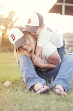 Boston Red Sox Mommy and Me Session @ Nicole Itani I bet you have some clients this would be super cute for!