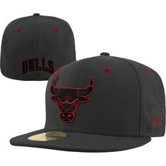 Chicago Bulls Fashion New Era 59FIFTY NBA Team Exclusive Fitted Hat - Graphite $36.99