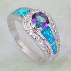Mystic Topaz Opal Silver Ring - AtPerrys.com - 1