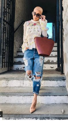 Kyrzayda Rodriguez 2018 that bag! Denim Fashion, Look Fashion, Winter Fashion, Chic Outfits, Fashion Outfits, Womens Fashion, Fashion Trends, Fashion Clothes, Casual Chic