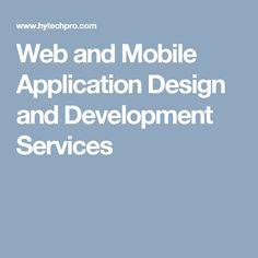 Mobile App & Web User Interface Designing Services