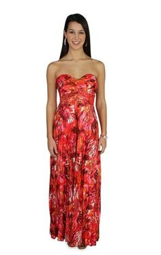 silky long prom dress with beaded neckline and empire waist