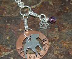 Pit Bull Mom Benefiting The Lazy Pit Bull | Blue Laamb Designs $20 {$4 from the sale of this necklace goes directly to The Lazy Pit Bull.}