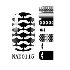 1 Pack Pleasing Nail Art Stickers Decorations Easy Attach Manicure Style Code NAD0115 ** You can find out more details at the link of the image.