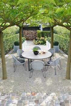 Simple, yet beautiful outdoor dining space