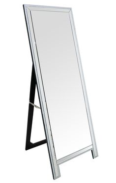 Vivian Rectangle Studded Floor Mirror
