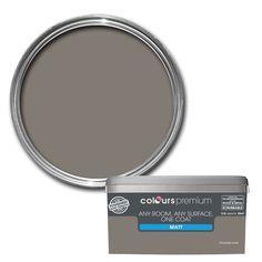 Colours Premium Any Room One Coat Choco Torte Matt Emulsion Paint 2.5L | Departments | DIY at B&Q