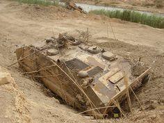 Abandoned Iraqi YW531 during Operation Iraqi Freedom 2003.