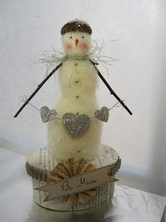 felted snowman ~ i need to learn how to do this