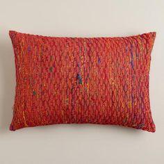 One of my favorite discoveries at WorldMarket.com: Red Sari Honeycomb Lumbar Pillow