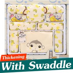 22.10$  Watch here - http://aliohl.shopchina.info/go.php?t=32756731922 - 17PCS Set Cotton Newborn Baby Clothes Unisex Infant Baby Clothing Thickening Infant Clothes Pajamas Swaddle Pillow Gift Set TZ40 22.10$ #aliexpresschina