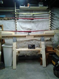 Ski waxing bench!