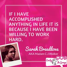 Madam Cj Walker Quotes Gorgeous Brilliant Quotes For Entrepreneursmadam Cjwalker Design Inspiration