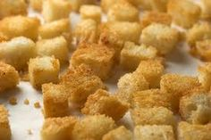 Home Made Croutons ~ Frugal Recipe Box http://www.frugallivingandhavingfun.com/2012/04/home-made-croutons-frugal-recipe-box/