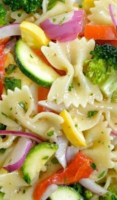 Summer Vegetable Pasta Salad | Foodiboum