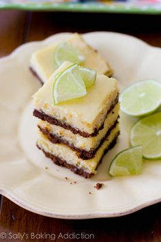 Easy Key Lime Pie Squares - only 6 ingredients! From Sally's Baking Addiction.