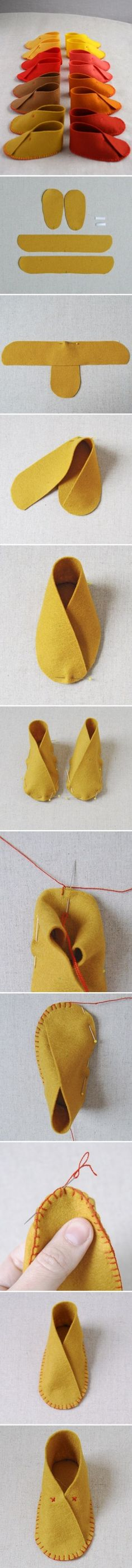 DIY : The Cutest Felt Baby Shoes by kasrin.knackebrot