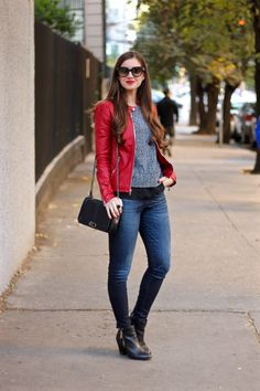 Red Express Leather Jacket