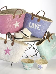 pastel bags for the beach My Bags, Purses And Bags, Fashion Bags, Fashion Accessories, Ibiza Fashion, Basket Bag, Summer Bags, Pretty Pastel, Mode Inspiration