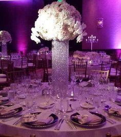 Breathtaking #whitewedding design with glorious #pinkuplighting at this wedding by #TheGardnerEffect #ColoradoWedding #NewberryBrothersGreenhouseFlorist featuring our #Blush #DuchessSatin napkins in a menu fold. Happy to be your #myLinenHero Vanna & Hercules #onfacebook #linkinprofile