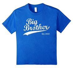 Big Brother Est 2010 Gift T-shirt for New Brother Tshirt
