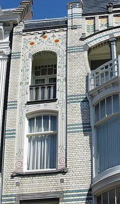 Dutch Jugendstil. Kettingstraat, The Hague, South-Holland, The Netherlands