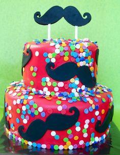 Moustache-party-cake