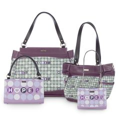 Miche's new Hope line. I absolutely love the greens and purples!   nikihinds.miche.com