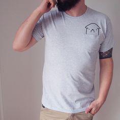 Camisetas m. corta imprim. - MENS TSHIRT WITH A POCKET - hecho a mano por onemugaday en DaWanda #moda #hombre #modamasculina #bisuteríahombre #pulserashombre #DaWanda #fashion  #hechoamano #diseño #handmade #DIY