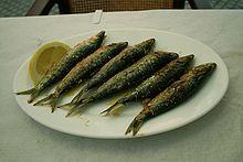 Sardinas a la plancha. - Wikipedia, la enciclopedia libre