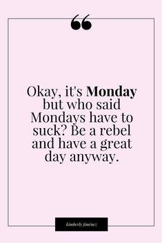 Shake off the Monday blues!: http://kimberlyannjimenez.com/