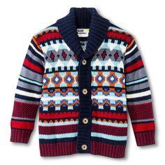 Infant Toddler Boys' Fair Isle Button-Down Cardigan