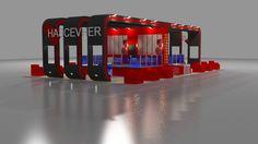 Has Cevher fair stand exhibition design 3d ma