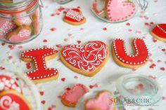 Valentine's Day Cookies Valentines Day Cookies, Sugar, Chic, Desserts, Food, Shabby Chic, Tailgate Desserts, Elegant, Deserts