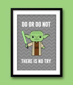 Star Wars inspired wall art. This fun print would make a ...
