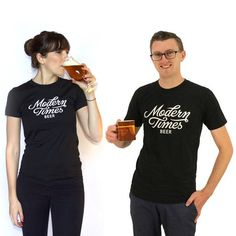 Black is the new black. This shirt nearly guarantees that you'll be setting the world record for high fives every... American Apparel, Modern Times, Craft Beer, Home Brewing