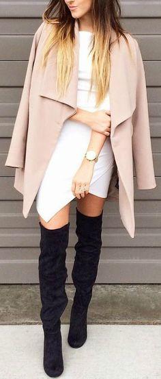 Blush, white + black
