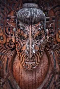 Wooden Sculpture Art - Maori Warrior - The Maori are the indigenous people who arrived in New Zealand in several waves of Canoe Voyages at some time between 1250 and 1300 CE. Art Maori, Maori Symbols, Maori Designs, Tribal Designs, Maori People, Tree Carving, Wood Carving, Coffee And Cigarettes, New Zealand Art
