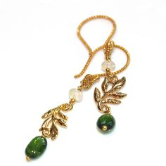 Chrome Diopside Earrings Russian Gemstone Rare Gemstone Vine Earrings Ethiopian Opal Earrings Chrome Diopside Jewelry