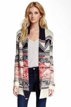 Patterned Knit Cardigan by Peach Love Cream California on @HauteLook