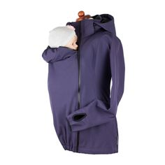 The largest variety of quality babywearing outerwear to help you get through all the seasons! Shop the best selection of Babywearing Outwear in North America. Pregnancy Months, Winter Gear, Softshell, Piece Of Clothing, Dark Purple, Baby Wearing, Winter Collection, Warm And Cozy, Rain Jacket