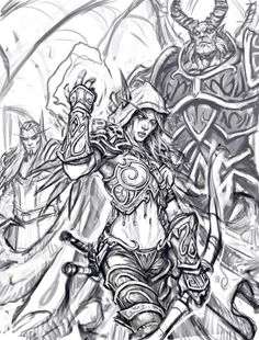 world of warcraft drawings - Google Search